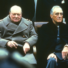 Mutual respect: Winston Churchill and Franklin D Roosevelt