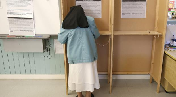 Faith matters: Sister Victor a dominician nun votes in the referendum in Dublin