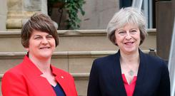 Arlene Foster with Theresa May