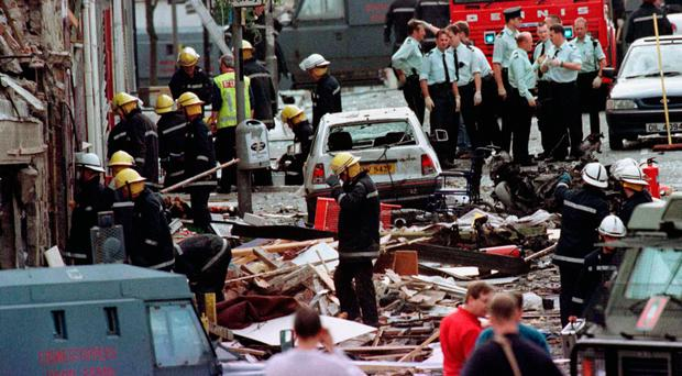 Massacre: the aftermath of the bomb in Omagh which killed 31 people