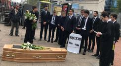 The students dressed in mourning wear had come to bury Brexit