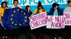The Our Future Our Choice protest rolled up at Stormont last week