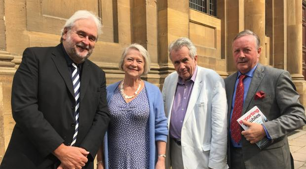 From left: Ivan Little, Kate Adie, Martin Bell and Deric Henderson at the Oxford Literary Festival