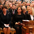 Arlene Foster, MaryLou McDonald and Michelle O'Neill at Lyra McKee's funeral