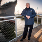 Captain John Rees OBE, who is project director for the HMS Caroline