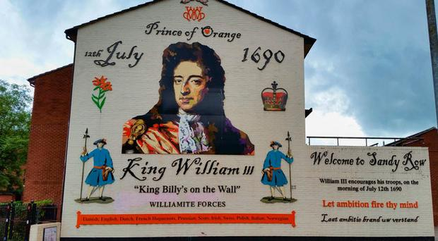 Ross Wilson's William of Orange mural in Sandy Row