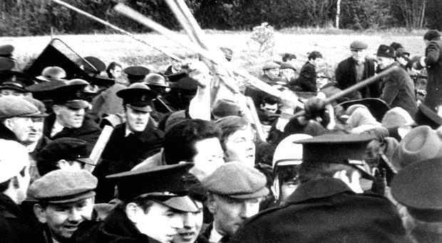 Civil Rights marchers were ambushed by some 200 loyalists at Burntollet Bridge
