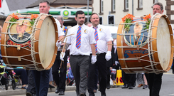 Lambeg drums taking pride of place at last year's Twelfth