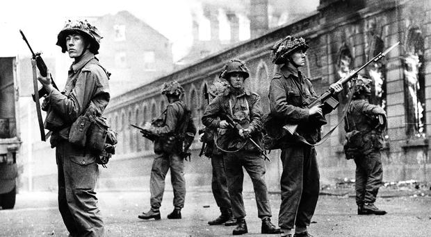 Prime Minister Harold Wilson ordered troops onto the streets of Belfast in 1969