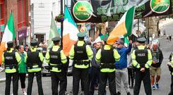 Saoradh protest in Derry against the Apprentice Boys