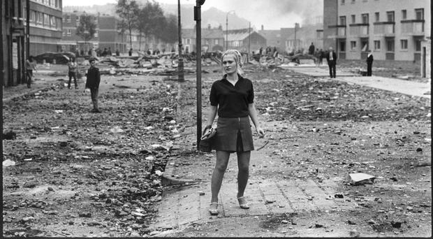 The aftermath of the riots in Derry's Bogside