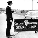 A customs stop at the Irish border used to be a familiar sight