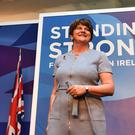 Arlene Foster at the DUP's annual conference at the Crowne Plaza Hotel in Belfast last weekend