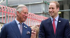 Prince Charles and Prince William (right)
