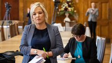 Deputy First Minister Michelle O'Neill and First Minister Arlene Foster