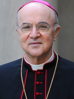 Archbishop Carlo Maria Vigano, who has accused Pope Francis of covering up sex abuse and urged him to resign