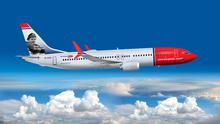 Norwegian Air flies out of Belfast, in a Boeing 737