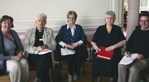 Looking after us: members of the NI Health Chaplains' Association executive council, (from left) Sr Fiona Galligan, Fr Adrian Eastwood, Deaconess Muriel Cromie, Sr Jo Horgan and Rev Matthew Hagan