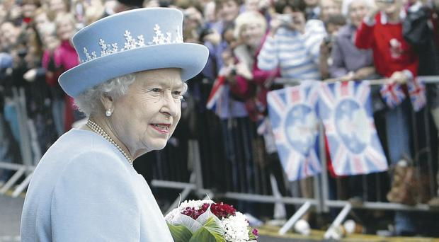Starring role: The Queen has shown immense professionalism this year