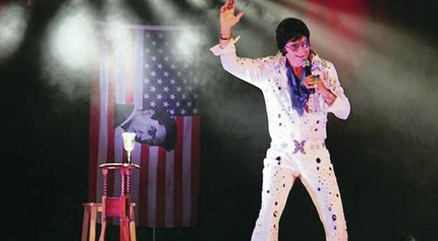 Hail the King: Rev Andy Kelso who doubles as Elvis is fundraising for the NI Children's Hospice
