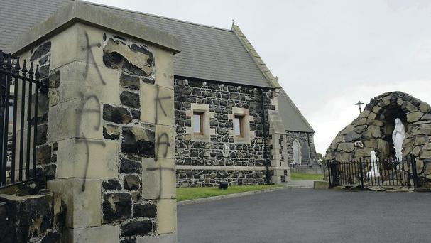 Mindless bigotry: in recent days churches and a war memorial have been attacked in Glenavy
