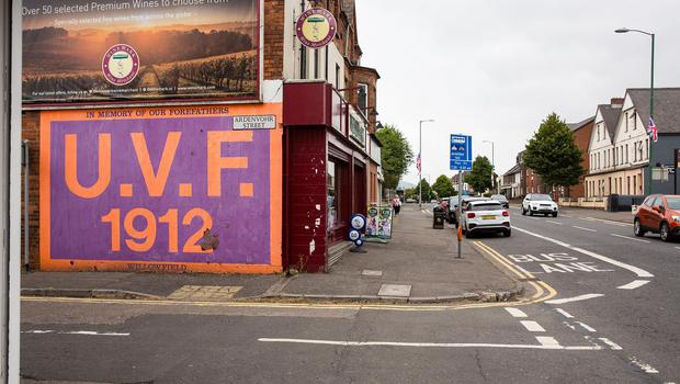 Message: A UVF mural on a gable wall off the Woodstock Road, close to the Cregagh Estate in east Belfast