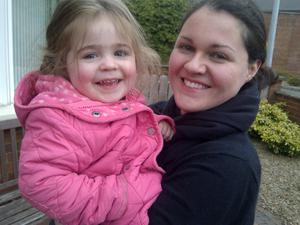 Child's play: daughter Katie has taught mum Claire many new tricks