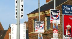 No shame: politicians use every inch of space on our lamp-posts