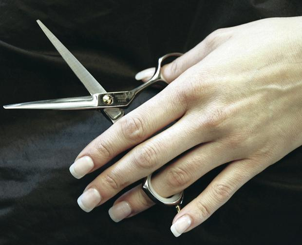 Unkindest cut: Trying to use scissors is one of the banes of a left-hander's life