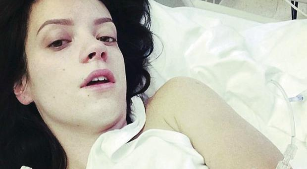 Bedside manna: Lily Allen's A and E selfie