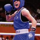 Girl power: Olympic champion Katie Taylor in the ring