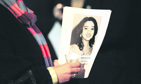 Tragic: the death of Savita Halappanavar has focused attention on anti-choice health minister Edwin Poots