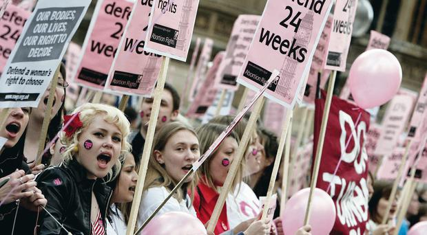 Defiant: women protesting against restrictions on abortion