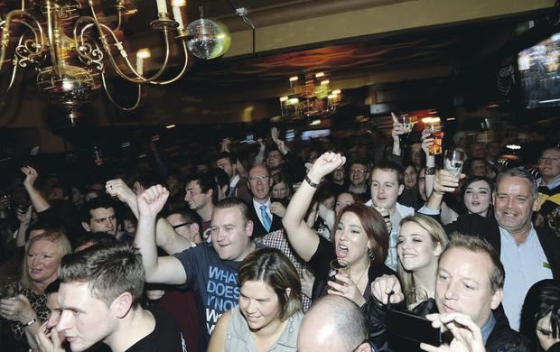 Black day: Revellers partying on the annual Arthur's Day