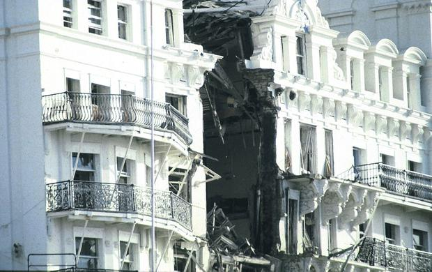 Brutality: the IRA bombing of Tory delegates staying at Brighton's Grand Hotel almost succeeded in killing Margaret Thatcher