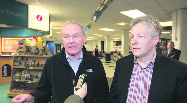 Martin McGuinness and Peter Robinson must end hostility between parties, which Speaker Hay has had to admonish