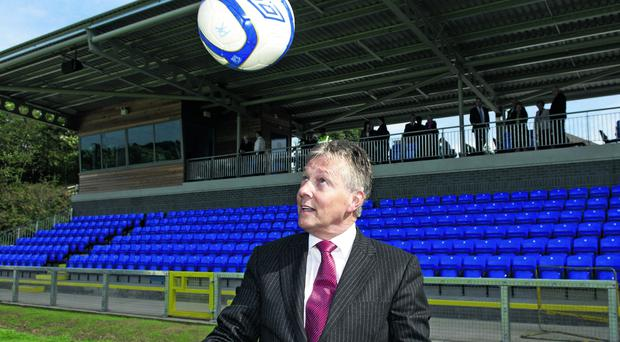 Key player: Peter Robinson's man-management skills, not his football skills, bear little comparison with Alex Ferguson.