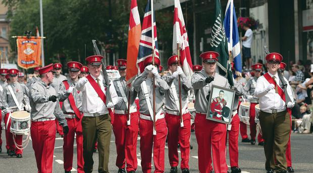 The Twelfth parade during the day in peaceful circumstances