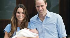 Future tense: Duke and Duchess of Cambridge with baby George