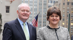 Martin McGuinness and Arlene Foster were on opposite sides of the EU referendum
