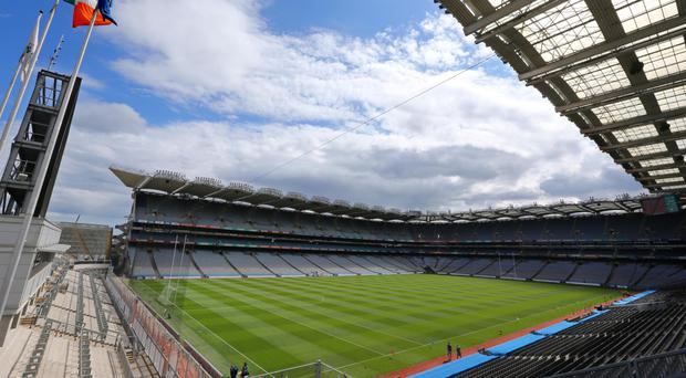 The tricolour flying at Croke Park. But the issue of flags and anthems must be two-way street