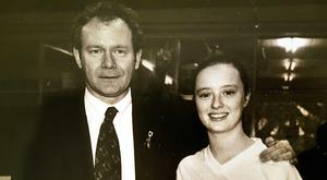Martin McGuinness and Mairia Cahill in her younger years