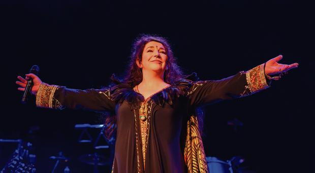 Triumphant return Kate Bush on stage at the Hammersmith Odeon in London this week