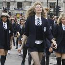 Rowdy behaviour: the girls at St Trinian's