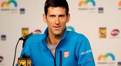 Outspoken comments: Player Novak Djokovic