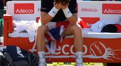 Under pressure: Andy Murray lets his emotions show
