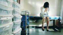 "PICTURE POSED BY MODEL.  File photo dated 31/01/2007 of a rape victim waiting to be seen by the doctor in the medical room at a specialist rape clinic in Kent. PRESS ASSOCIATION Photo. Issue date: Wednesday July 9, 2008. Every police force in the country needs to set up a specialist unit to investigate rape allegations, a senior police officer urged today. Acknowledging that the 6% conviction rate for rape was ""not good enough"", John Yates insisted constabularies needed to put their best experts in charge of rape cases from start to finish. See PA story POLITICS Rape. Photo credit should read: Gareth Fuller/PA Wire"