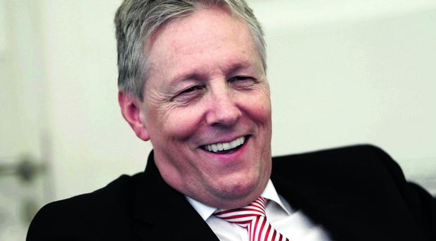 Mr Angry Peter Robinson does have a sense of humour