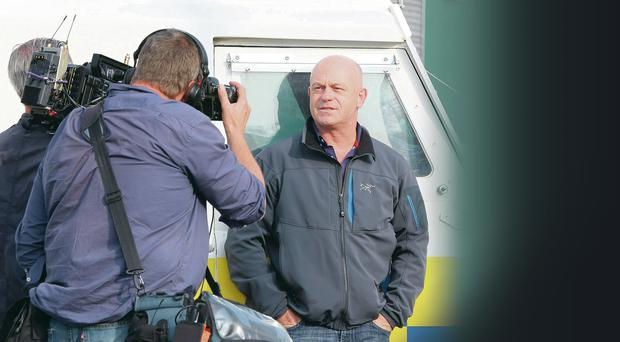 Extreme Belfast: Ross Kemp during filming amid riots on the Twelfth at Ardoyne