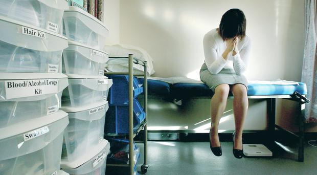 PICTURE POSED BY MODEL. File photo dated 31/01/2007 of a rape victim waiting to be seen by the doctor in the medical room at a specialist rape clinic in Kent. PRESS ASSOCIATION Photo. Issue date: Wednesday July 9, 2008. Every police force in the country needs to set up a specialist unit to investigate rape allegations, a senior police officer urged today. Acknowledging that the 6% conviction rate for rape was